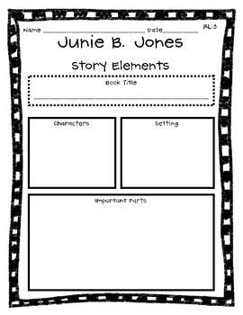 Junie B. Jones Common Core Graphic Organizers