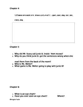 Junie B Jones First Grade (at last!) study guide