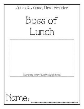 Junie B. Jones, First Grader, Boss of Lunch Comprehension Packet