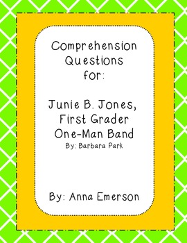 Junie B. Jones, First Grader One-Man Band