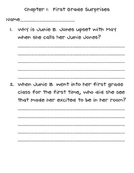 Junie B. Jones First Grader at Last! book club