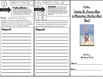 Junie B. Jones Has A Monster Under Her Bed Trifold