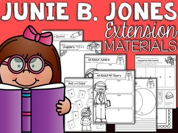 Junie B Jones Has a Monster Under Her Bed Comprehension Unit