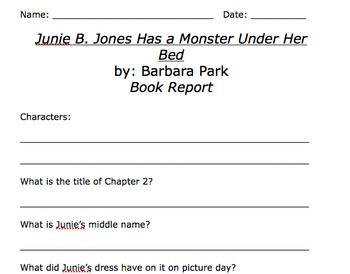 Junie b jones has a monster under her bed pdf file