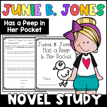 Junie B. Jones Has a Peep in Her Pocket: Complete Unit of Reading Responses