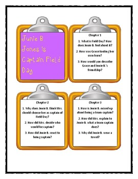 Junie B. Jones Is CAPTAIN FIELD DAY - Discussion Cards