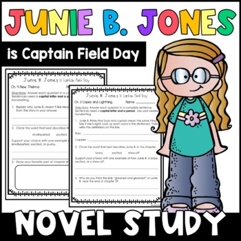 Junie B. Jones Is Captain Field Day: Complete Unit of Reading Responses