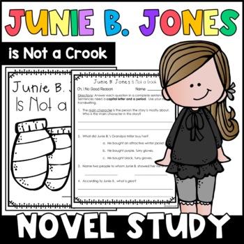 Junie B. Jones Is Not a Crook: Complete Unit of Reading Responses