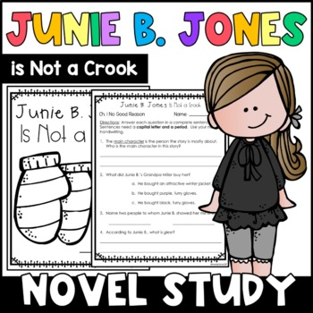Junie B. Jones Is Not a Crook: Complete Unit of Reading Responses