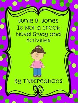 Junie B. Jones Is Not a Crook Novel Study