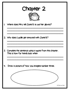Junie B. Jones Is Not a Crook Novel Unit or Guided Reading Pack