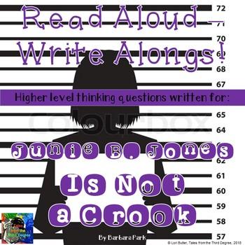 Junie B. Jones Is Not a Crook Read Aloud Write Along Book Study