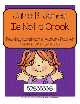 Junie B. Jones Is Not a Crook (Reading Contract & Activity