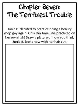 Junie B. Jones Is a Beauty Shop Guy Response Notebook (20 pages)