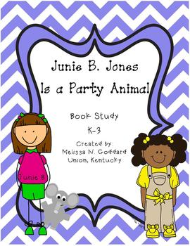 Junie B. Jones Is a Party Animal Book Study