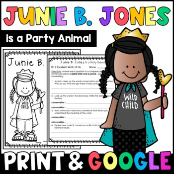 Junie B. Jones Is a Party Animal: Complete Unit of Reading