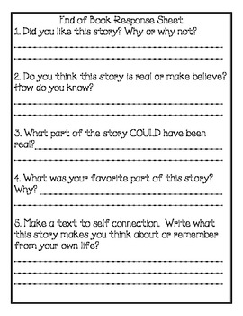 Junie B. Jones - Kindergarten Series Comprehension Packets