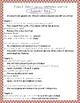 Junie B. Jones Loves Handsome Warren #7 comprehension and grammar packet