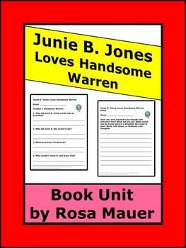 Junie B. Jones Loves Handsome Warren Reading Comprehension Unit