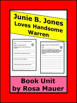 Junie B. Jones Loves Handsome Warren Reading Comprehension Unit