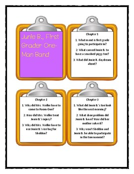 Junie B. Jones ONE-MAN BAND Discussion Cards