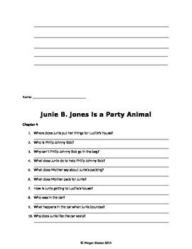 Junie B. Jones Party Animal Packet