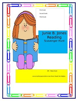 Junie B. Jones Reading Scavenger Hunt