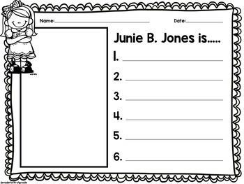 Junie B. Jones Writing Activities