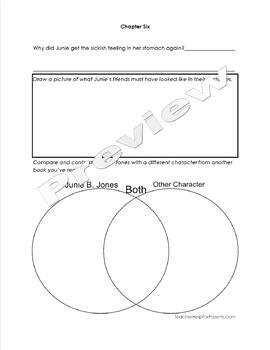 Junie B Jones and Her Big Fat Mouth Literature Unit - Student Packet and Key