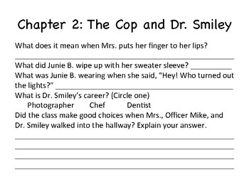 Junie B. Jones and Her Big Fat Mouth (Novel Study Packet)