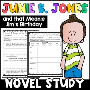 Junie B. Jones and That Meanie Jim's Birthday: Unit of Reading Responses