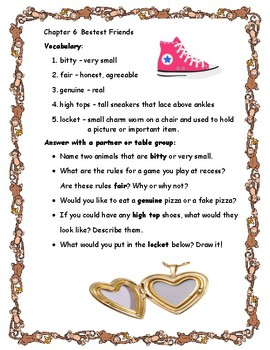 Junie B. Jones and a Little Monkey Business Primary Novel Reading Study Guide
