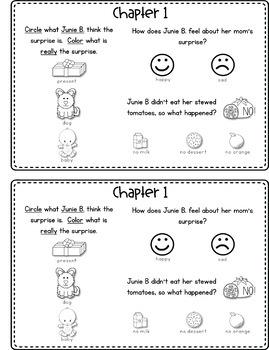 Junie B. Jones and a Little Monkey Business Reading Response Journal