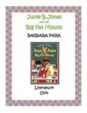 Junie B. Jones and her Big Fat Mouth Literature Unit