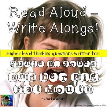Junie B. Jones and her Big Fat Mouth Read Aloud Write Along Book Study