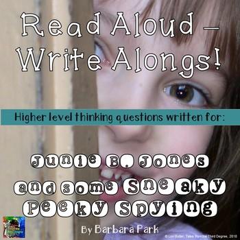 Junie B. Jones and some Sneaky Peeky Spying Read Aloud Write Along Book Study