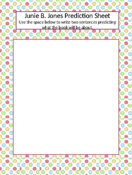 Junie B. Jones and that Meanie Jim's Birthday Comprehension Guide