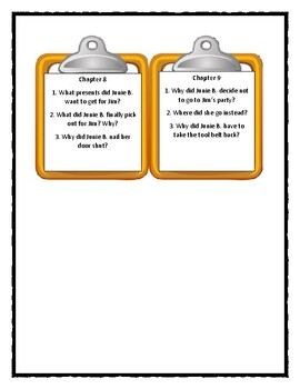 Junie B. Jones and that Meanie Jim's Birthday - Discussion Cards