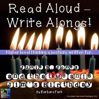 Junie B. Jones and that Meanie Jim's Birthday Read Aloud Write Along Book Study