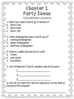 Junie B. Jones and the Mushy Gushy Valentime {Literacy Companion Pack}