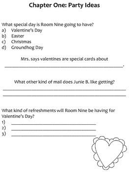Junie B. Jones and the Mushy Gushy Valentime Response Notebook