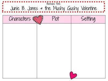 Junie B. Jones and the Mushy Gushy Valentine by Barbara Park:  A  Novel Study!