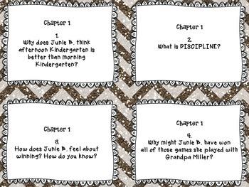 Junie B. Jones and the Yucky Blucky Fruitcake - close reading task cards