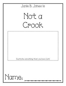 Junie B. Jones is Not a Crook Comprehension Packet