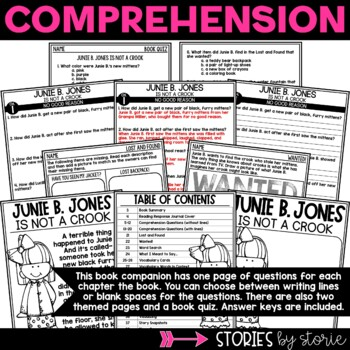 Junie B. Jones is Not a Crook by Stories by Storie | TpT