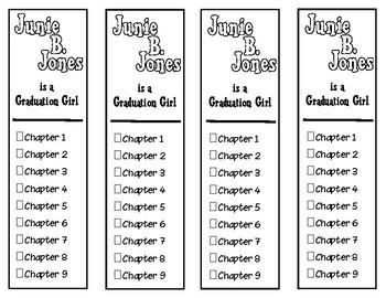 Junie B. Jones is a Graduation Girl Chapter Checklist Bookmarks