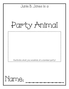 Junie B. Jones is a Party Animal Comprehension Packet