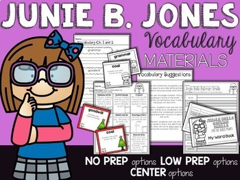 Junie B Jones is almost a Flower Girl Comprehension Unit