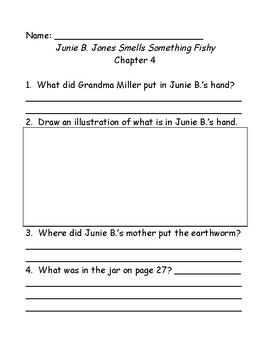 Junie B. Jones smells something Fishy comprehension questions
