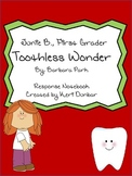 Junie B. Jones the Toothless Wonder Response Notebook (18 Pages)